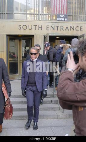 Lloyd Klein attends a Manhattan Court for the case against Jocelyn Wildenstein  Featuring: Lloyd Klein Where: Manhattan, - Stock Photo