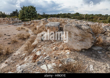 The stadium - the remains of a Roman hippodrome, Kourion, Cyprus - Stock Photo