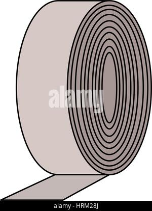 adhesive tape roll icon image  - Stock Photo