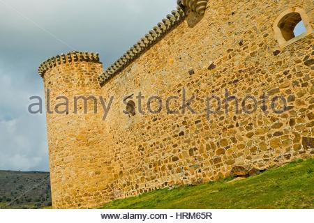 Valdecorneja Castle, 12th-14th century, Barco de Ã. vila, Ã. vila, Castilla y León, Spain, Europe. - Stock Photo