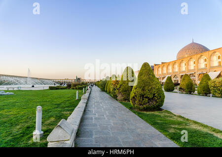 view on Naqsch-e Dschahan Square - Imam Square in Isfahan - Iran - Stock Photo