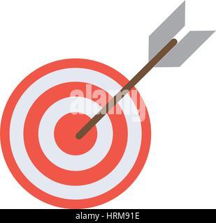 target arrow strategy market - Stock Photo