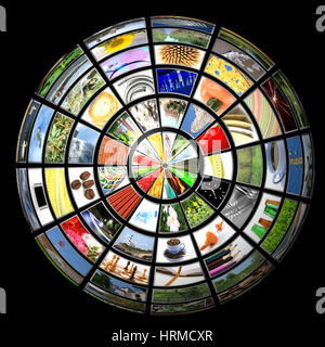 Tv news mobile imternet multimedia sphere. - Stock Photo
