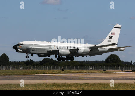 United States Air Force Boeing RC-135 Rivet Joint - RAF Mildenhall - Stock Photo