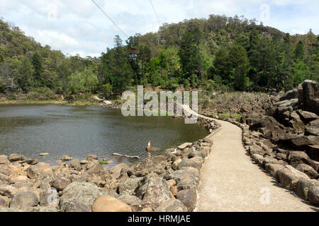 Cataract Gorge, Launceston, Tasmania, Australia - Stock Photo