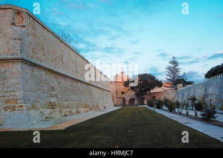 Mdina city gates. Old fortress Malta - Stock Photo