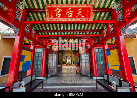Interior of the Hoa Van Le Nghia Temple. Hoi An Ancient Town, Quang Nam Province, Vietnam. - Stock Photo