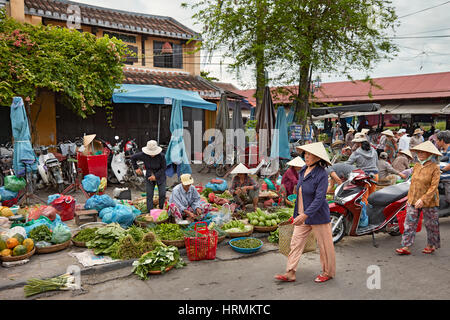 Central market in Hoi An Ancient Town. Quang Nam Province, Vietnam. - Stock Photo