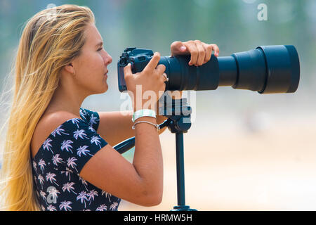Sydney, Australia - 3rd March 2017: Australian Open of Surfing Sports Event at Manly Beach, Australia featuring - Stock Photo