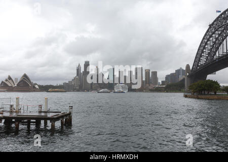 Sydney, Australia. 3rd March 2017. A week of heavy rain and thunderstorms continues over Sydney and parts of New - Stock Photo