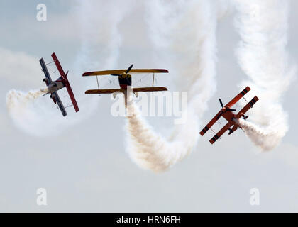 Melbourne, Melbourne, Australia. 3rd Mar, 2017. Three planes perform during the Australian International Aerospace - Stock Photo