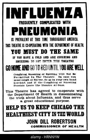 Influenza Pandemic, 1918 - Stock Photo