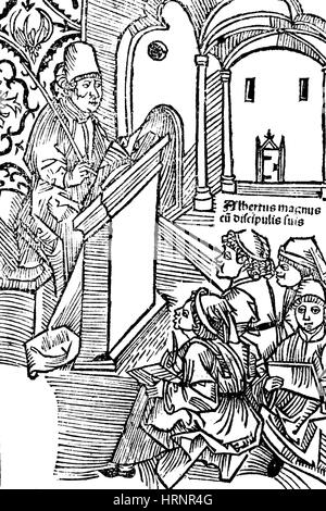 Albertus Magnus, Medieval Philosopher and Polymath - Stock Photo