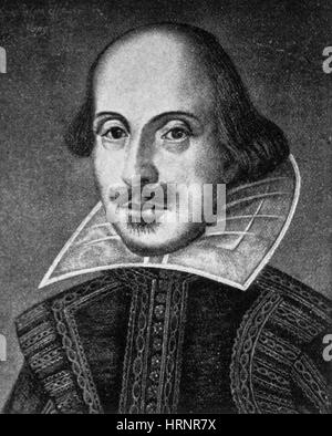William Shakespeare, English Poet and Playwright - Stock Photo
