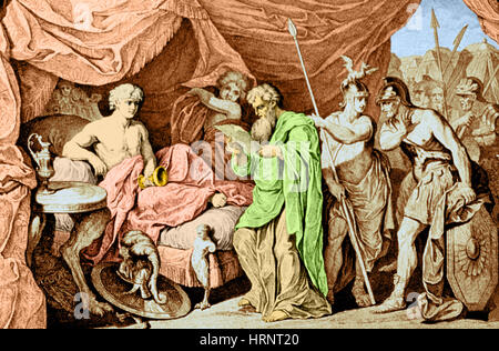 Alexander the Great and Philippos, 356-323 BC - Stock Photo
