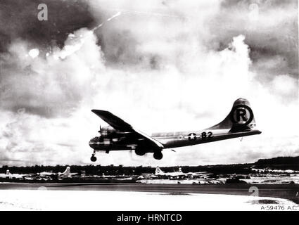 Enola Gay Landing After Hiroshima Bombing - Stock Photo