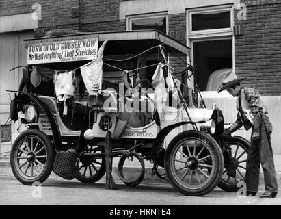 Scrap Rubber Drive, 1942 - Stock Photo