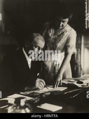 Woodrow Wilson, 28th U.S. President - Stock Photo