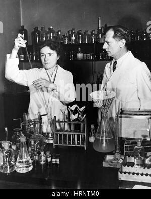 Gerty and Carl Cori, Nobel Biochemists - Stock Photo