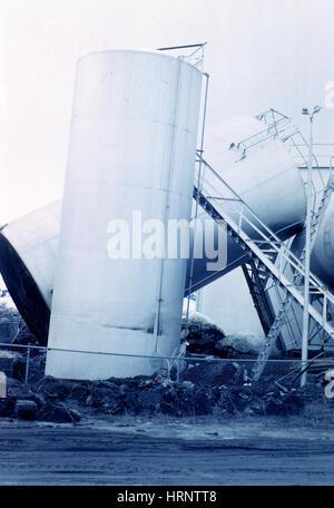 Great Alaskan Earthquake Damage, 1964 - Stock Photo