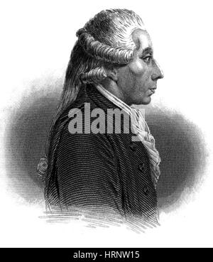 Jean Sylvain Bailly, French Astronomer - Stock Photo