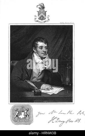 Humphry Davy, English Chemist - Stock Photo