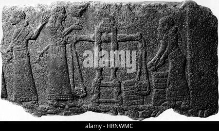 Tribute to Assyria King, 1st Century BC - Stock Photo