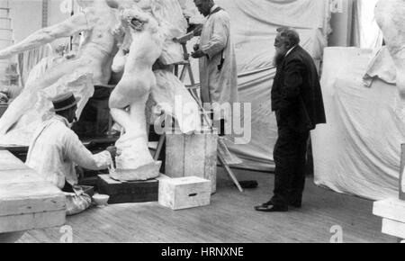 Auguste Rodin, French Sculptor - Stock Photo