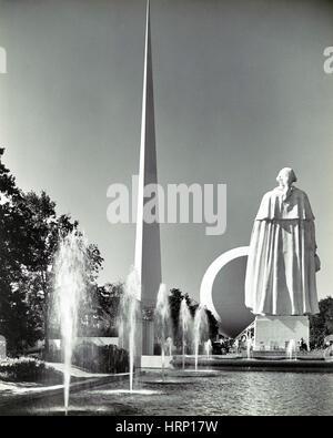 Fountains, 1939 New York World's Fair - Stock Photo