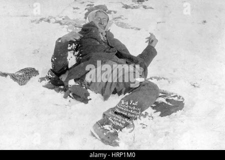 Spotted Elk's Body, Wounded Knee Massacre, 1890 - Stock Photo