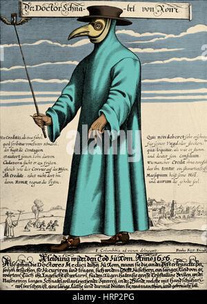 Plague Doctor, 17th Century - Stock Photo