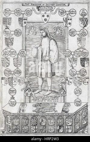 Geoffrey Chaucer, English Poet - Stock Photo