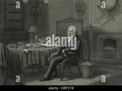 Henry Wadsworth Longfellow, American Poet - Stock Photo