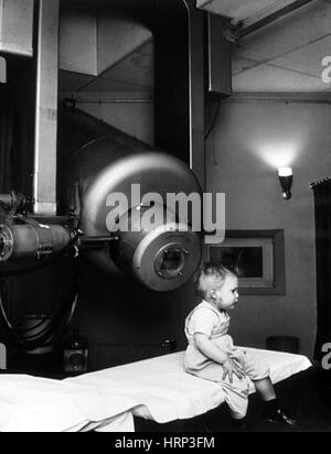 Radiation Therapy for Retinoblastoma, 1957 - Stock Photo