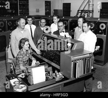 UNIVAC's Last Run, LLNL, 1959 - Stock Photo