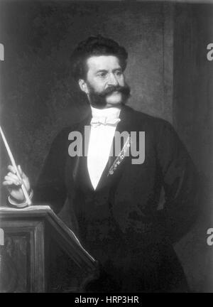 Johann Strauss, Austrian Composer - Stock Photo