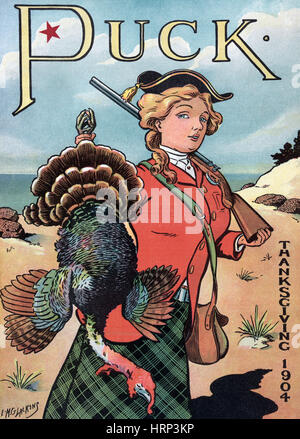 Puck Thanksgiving, 1904 - Stock Photo