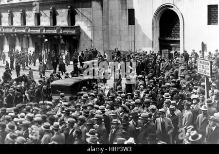 Wall Street Stock Market Crash, 1929 - Stock Photo