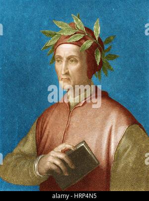 Dante Alighieri, Italian Poet - Stock Photo