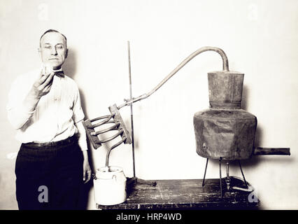 Confiscated Moonshine Still, 1920s - Stock Photo