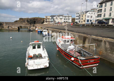 The harbour at Portstewart, County Londonderry, Northern Iireland. - Stock Photo
