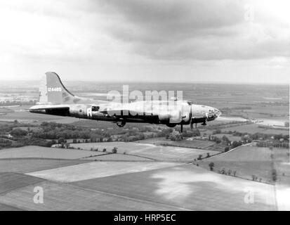 WWII, Boeing B-17 Flying Fortress, 1943 - Stock Photo