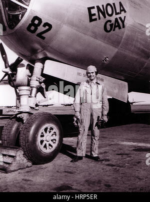 WWII, Paul Tibbetts, USAF Officer and Pilot - Stock Photo