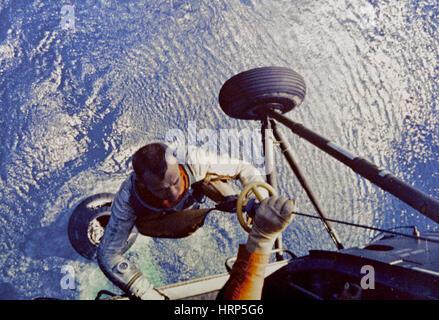 Recovery of Astronaut Alan Shepard, 1961 - Stock Photo