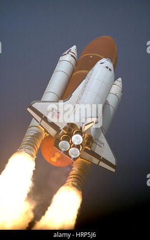 STS-45, Space Shuttle Atlantis Launch, 1992 - Stock Photo