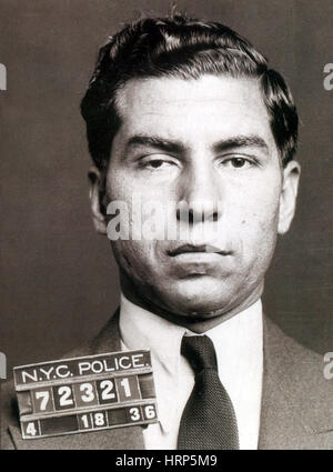 Lucky Luciano, American Mobster - Stock Photo