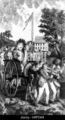 Loyalists Tarred and Feathered - Stock Photo
