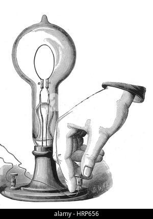 Thomas Edison, Incandescent Lamp, 1880 - Stock Photo
