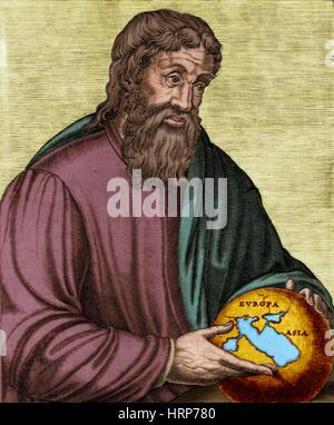 Strabo, Ancient Greek Historian - Stock Photo