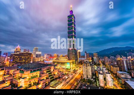 Taipei, Taiwan downtown skyline. - Stock Photo